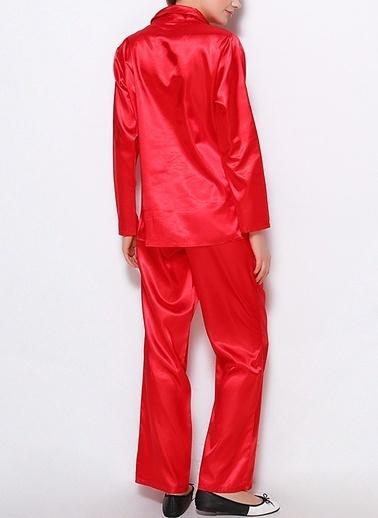 Miorre Saten Pijama Takım Kırmızı